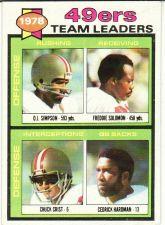 Buy 1979 Topps #38 San Francisco 49ers Team Leaders