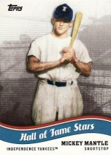 Buy 2010 Topps Pro Debut Hall Of Fame Stars #HOF-7 - Mickey Mantle