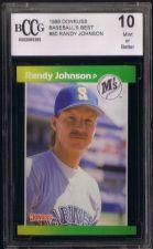 Buy RANDY JOHNSON 1989 DONRUSS MARINERS R/C #80 BCCG MINT 10