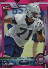 Buy 2015 Topps Chrome Pink Refractors #135 La'el Collins - Cowboys