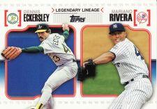 Buy 2010 Topps Legendary Lineage #LL-26 - Dennis Eckersley - Mariano Rivera