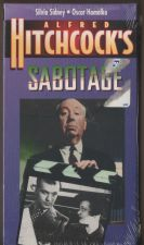Buy ALFRED HITCHCOCK SABOTAGE VHS NEW SEALED