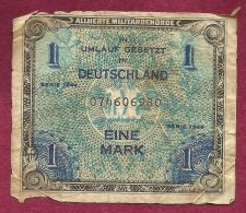 Buy GERMANY 1 Mark 1944 Banknote No.074606980 - Historic WWII Allied Military Currency!