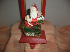 Buy Santa & Sled Stocking Holder