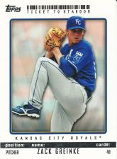 Buy 2009 Topps Ticket To Stardom #49 - Zack Greinke - Royals