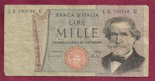 Buy ITALY MILLE LIRE 1969 Banknote CB 595579 N - Giuseppe Verdi