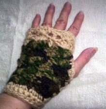 Buy Green & Tan Fingerless Gloves