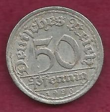 Buy 1920 GERMANY 50 PFENNIG - Weimar Coin