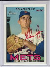 Buy 2016 Topps Heritage Real One Autographs Red Ink #ROANR - Nolan Ryan - Mets