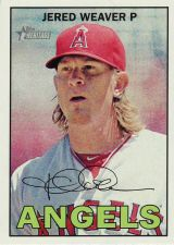 Buy 2016 Topps Heritage #32 - Jared Weaver - Angels