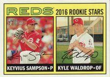 Buy 2016 Topps Heritage #164 - Keyvius Sampson - Kyle Waldrop - Reds
