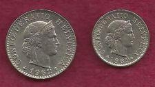 Buy Switzerland 5 & 20 Rappen 2 Coin Set !!! - Pre Euro Coins!