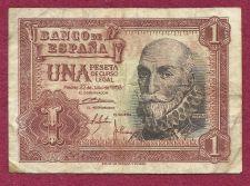 Buy SPAIN 1 Peseta 1953 Banknote #Z0353687 MARQUIS SANTA CRUZ ALVARO DE BAZAN