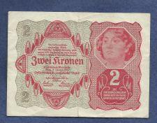 Buy Austria Hungary 2 Kronen 1922 Banknote