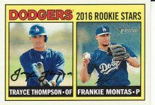 Buy 2016 Topps Heritage #163 - Trayce Thompson - Frankie Montas - Dodgers