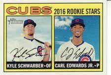 Buy 2016 Topps Heritage #161 - Kyle Schwarber - Carl Edwards Jr. - Cubs