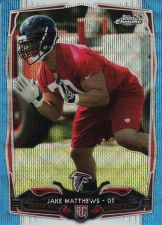 Buy 2014 Topps Chrome Blue Wave Refractors #199 - Jake Matthews - Falcons