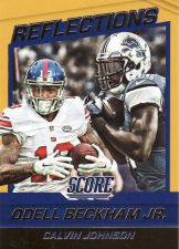 Buy 2016 Score Reflections Gold #11 - Odell Beckham Jr. - Calvin Johnson