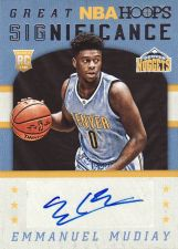 Buy 2015-16 Hoops Great SIGnificance #64 - Emmanuel Mudiay - Nuggets