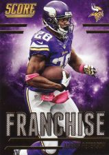 Buy 2014 Score Franchice Gold #F2 - Adrian Peterson - Vikings