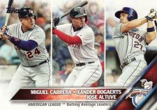 Buy 2016 Topps #29 - AL Avg LL - Miguel Cabrera - Xander Bogaerts - Jose Altuve