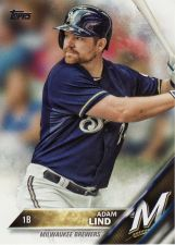 Buy 2016 Topps #57 - Adam Lind - Brewers