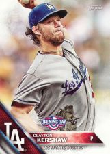 Buy 2016 Topps Opening Day #OD100 - Clayton Kershaw - Dodgers