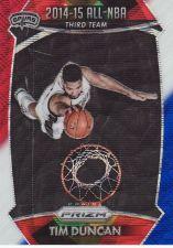 Buy 2015-16 Panini Prizm Prizms Red White Blue #386 - Tim Duncan - Spurs