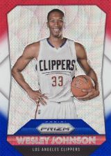 Buy 2015-16 Panini Prizm Prizms Red White Blue #59 - Wesley Johnson - Clippers