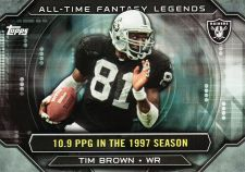 Buy 2015 Topps All Time Fantasy Legends #ATFL-TBR - Tim Brown - Raiders