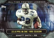 Buy 2015 Topps All Time Fantasy Legends #ATFL-ES - Emmitt Smith - Cowboys