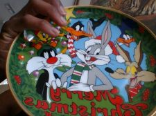 Buy Looney Tunes Christmas Plate