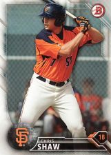 Buy 2016 Bowman Prospects #BP84 - Chris Shaw - Giants