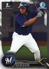 Buy 2016 Bowman Chrome Prospects #BCP30 - David Denson - Brewers