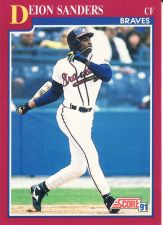 Buy 1991 Score Rookie & Traded #34T - Deion Sanders - Braves