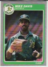 Buy 1985 Fleer #422 - Mike Davis - Athletics