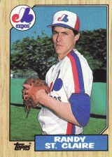 Buy 1987 Topps #467 - Randy St. Claire - Expos