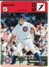 Buy 2005 Leaf Sportscasters 40 Red Leaping-Ball #28 - Mark Prior - Cubs