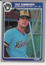Buy 1985 Fleer #596 - Ted Simmons - Brewers