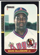 Buy 1987 Donruss #479 - Mark McLemore - Angels
