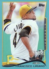 Buy 2014 Topps Wal-Mart Blue #114 - Francisco Liriano - Pirates
