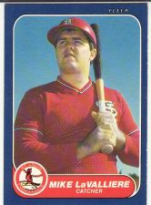 Buy 1986 Fleer Update #U-65 - Mike LaValliere - Cardinals