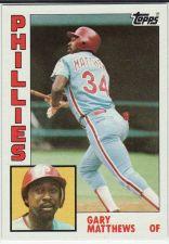 Buy 1984 Topps #70 - Gary Matthews - Phillies