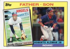 Buy 2016 Topps Archives '85 Father Son Recreate #FS-AAL - Sandy Alomar - Roberto Alomar