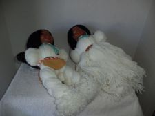 Buy Boy & Girl White American Indian Yarn Dolls
