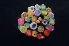 Buy Cake/Food 3D Mix Fimo Nail Art Nail Tips Polymer Clay Slices D