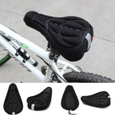 Buy Bike bicycle 3D silicone saddle Seat ultra soft cushion cover pad