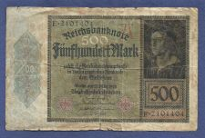Buy Germany 500 Mark 1922 Banknote E2101404 - Rare!