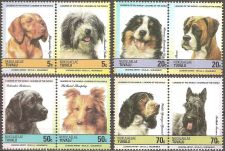Buy Tuvalu: Dogs (1985) MNH Complete Set