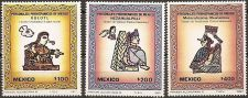 Buy Mexico: Scott No. 1510-1512 Pre-Hispanic 7 MNH Complete 3-value Set